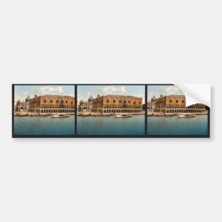 The Doges' Palace, Venice, Italy vintage Photochro Bumper Stickers