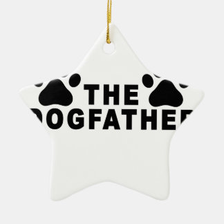 the dogfather T-Shirts.png Ceramic Star Decoration