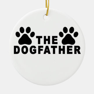 the dogfather T-Shirts.png Round Ceramic Decoration