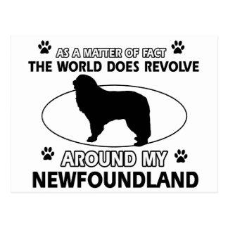 The dogs revolve around my newfounland postcard