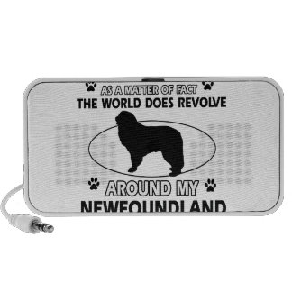 The dogs revolve around my newfounland mp3 speakers