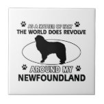 The dogs revolve around my newfounland ceramic tile