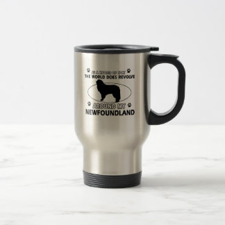 The dogs revolve around my newfounland travel mug