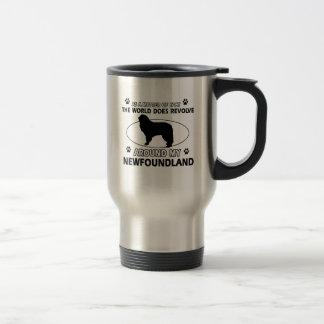 The dogs revolve around my newfounland travel mug