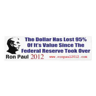 The Dollar Has Lost 95 Percent Of It's Value Photograph