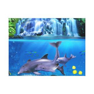 The Dolphin Family Canvas Print