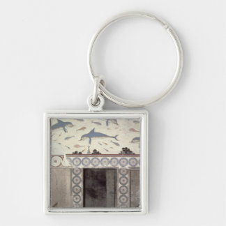 The Dolphin Frescoes in the Queen's Bathroom Key Ring