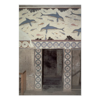 The Dolphin Frescoes in the Queen's Bathroom Poster