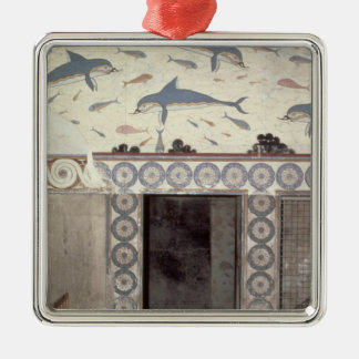 The Dolphin Frescoes in the Queen's Bathroom Silver-Colored Square Decoration