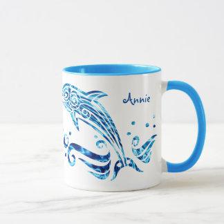 The Dolphin is My Friend Blue Sea Water Marine Joy Mug