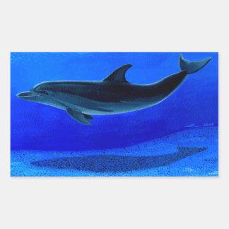 The dolphin rectangular sticker