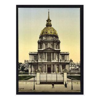 The Dome des Invalides, Paris, France vintage Phot Postcard