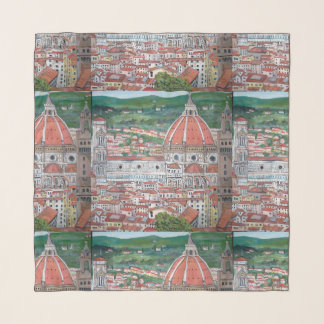 """The Dome of Florence - 36"""" x 36"""" Square Scarf"""