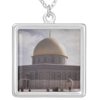 The Dome of the Rock, built AD 692 Silver Plated Necklace