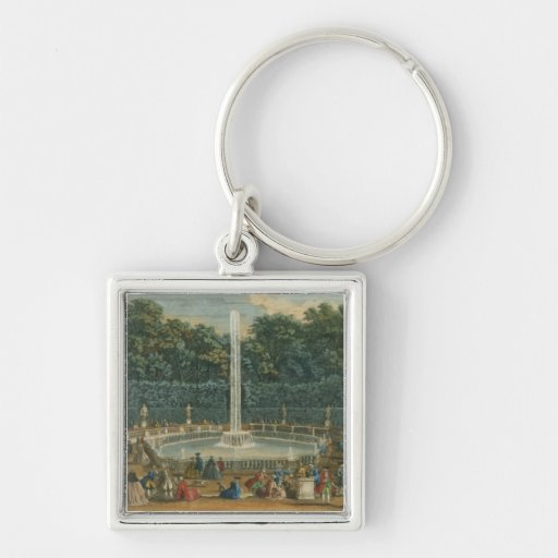 The Domes in the Garden at Versailles, pub. by Lau Keychains