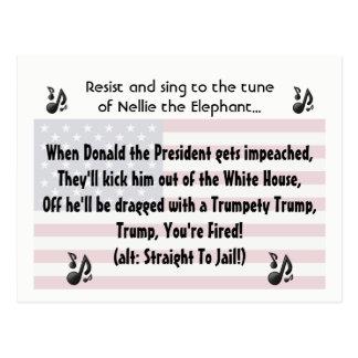 The Donald Impeachment Song Lyric Postcard