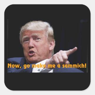 The Donald Square Sticker