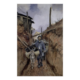 The Donkey, Somme, 1916 Poster
