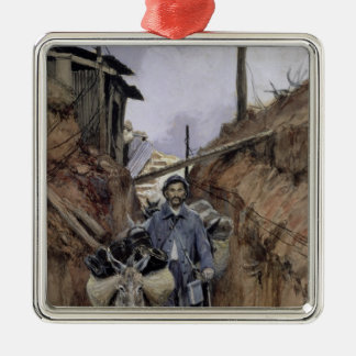 The Donkey, Somme, 1916 Silver-Colored Square Decoration