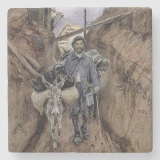 The Donkey, Somme, 1916 Stone Coaster