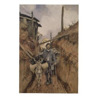 The Donkey, Somme, 1916 Wood Print