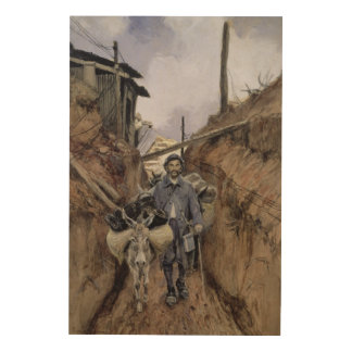The Donkey, Somme, 1916 Wood Prints