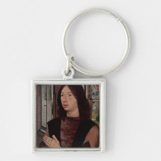 The Donor Silver-Colored Square Key Ring