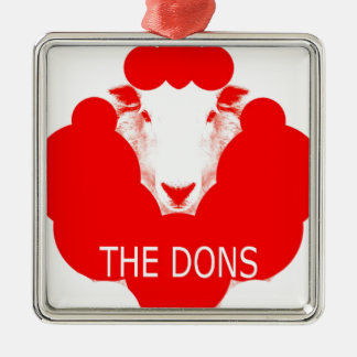 THE DONS Silver-Colored SQUARE DECORATION