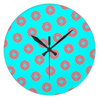 The Donut Pattern I Large Clock