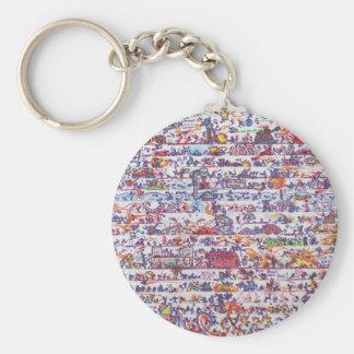 The Doodle Wars Keyring Basic Round Button Key Ring
