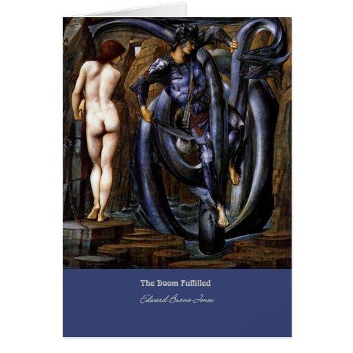 """The Doom Fulfilled"", by Edward Burne-Jones Greeting Cards"