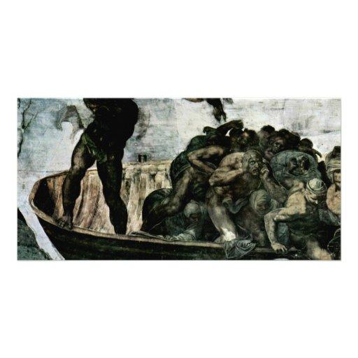 The Doomsday Fresco On The Altar Wall Of The Sisti Photo Cards