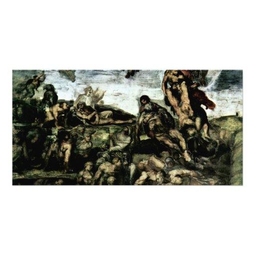 The Doomsday Fresco On The Altar Wall Of The Sisti Custom Photo Card