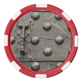 the door of a castle  Poker Chips