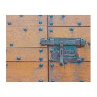 THE DOOR OF A CASTLE  WOOD WALL ART
