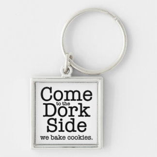 The Dork Side Silver-Colored Square Keychain