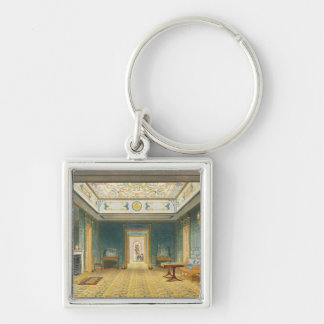 The Double Lobby or Gallery (South) above the Corr Silver-Colored Square Key Ring
