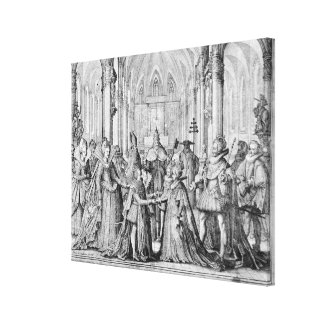 The Double Marriage in Louis XIII  to Anne Canvas Print