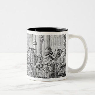 The Double Marriage in Louis XIII  to Anne Two-Tone Coffee Mug