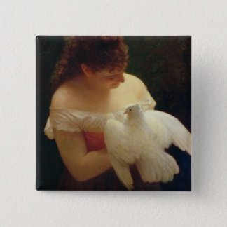 The Dove 15 Cm Square Badge