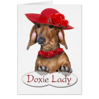 The Doxie Lady Card