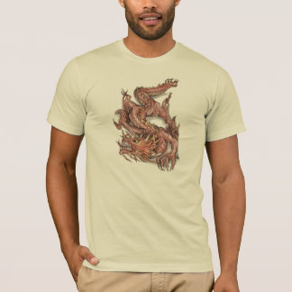 The dragon attacks - T-Shirt