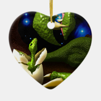 The Dragon Hatchling Ceramic Heart Decoration