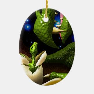 The Dragon Hatchling Ceramic Oval Decoration
