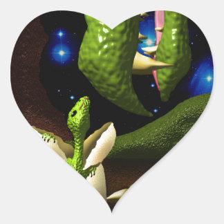 The Dragon Hatchling Heart Sticker