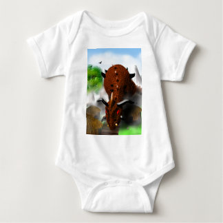 The Dragon in the Village Baby Bodysuit