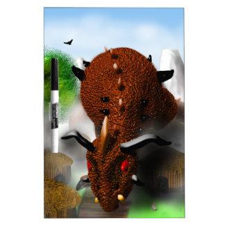 The Dragon in the Village Dry Erase Board