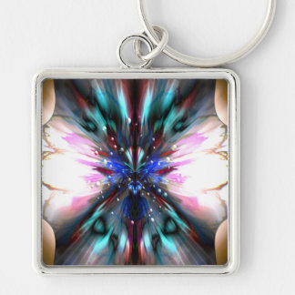 The Dragonfly Waltz Silver-Colored Square Key Ring