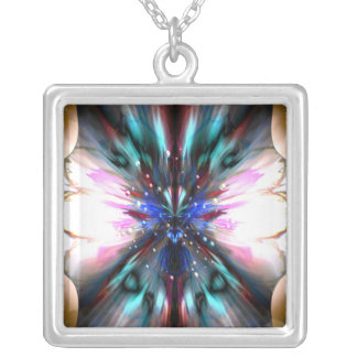 The Dragonfly Waltz Square Pendant Necklace