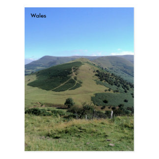 The Dragons Back, The Brecon Beacons, Wales Postcard
